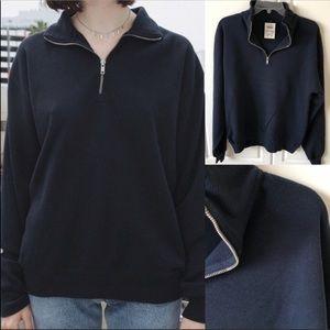 Brandy Melville THERMAL Missy Half Zip Pullover